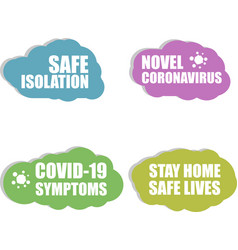 Against coronavirus icon safe isolation covid-19 vector