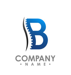 B letter chiropractic abstract logo design vector