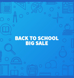 back to school big sale outline vector image
