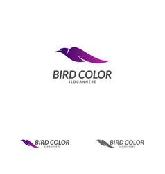 bird logo flying bird logo design template dove vector image