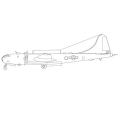 Boing b-29 superfortress side vector