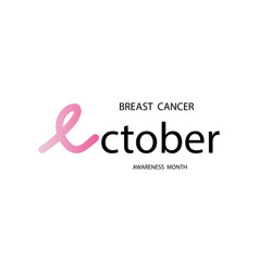 breast cancer awareness month in october breast vector image