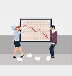 Business people at presentation decreasing vector