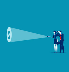 businessman team with flashlight and searching vector image