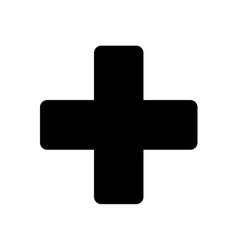Button plus icon vector