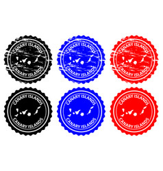 Canary islands rubber stamp vector