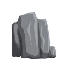 Cartoon icon of gray stone mountain rock vector