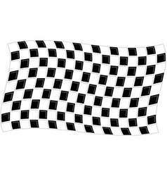 Checkered flag waving graphic vector