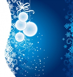Christmas glow blue vector image