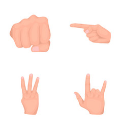 Closed fist index and other gestures hand vector