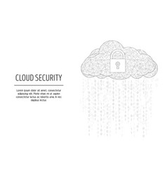 cloud security web banner template vector image