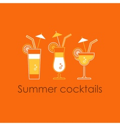 Cocktail party alcohol drinks vector