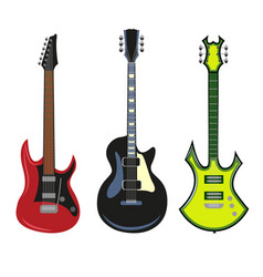 Collection of heavy metal electric bass or vector