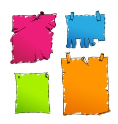 coloured tags vector image vector image
