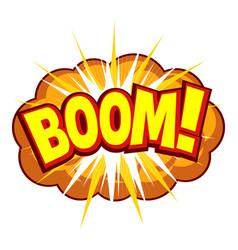 comic explosion symbol vector image