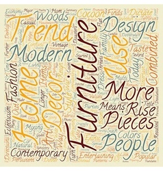 Contemporary Furniture Trends text background vector image