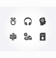 currency exchange honor and credit card icons vector image