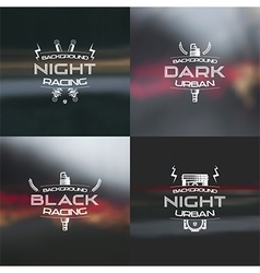 Dark racing urban blurred background vector image