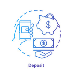 Deposit concept icon savings investments casino vector