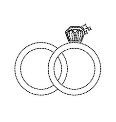 Dotted shape wedding ring to symbolic the love vector