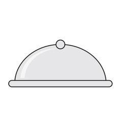 elegant food tray icon vector image
