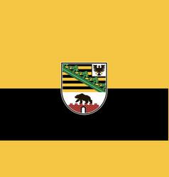 Flag saxony-anhalt vector