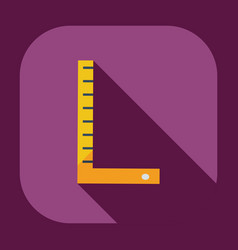 Flat modern design with shadow icons ruler vector