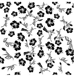 floral seamless texture with flowers vector image