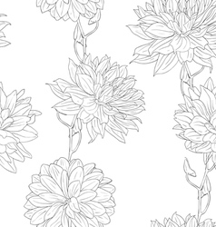floral sketches wallpaper vector image