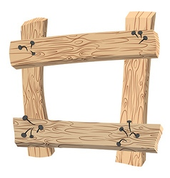Frame of Old planks Old wooden boards Rusty nails vector