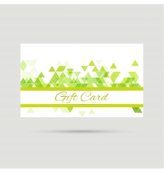 Gift card with a round badge vector