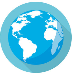globe of the earth vector image