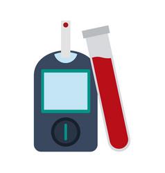 Glucometer blood test vector
