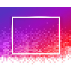gradient mosaic background with empty white frame vector image