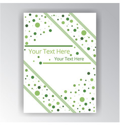 green and white abstract background with dotes vector image