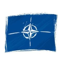 Grunge NATO flag vector