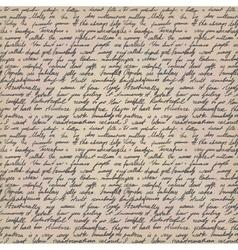 handwritten letter vector image