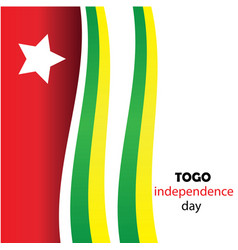happy independence day togo togo independence day vector image