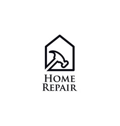 home repair line art logo icon symbol vector image