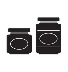 Jar silhouettes vector