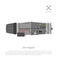 Jet engine in a flat style Part of the aircraft vector