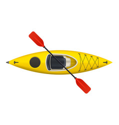 kayak isolated on white vector image