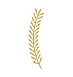 Leafs gold decorative icon vector