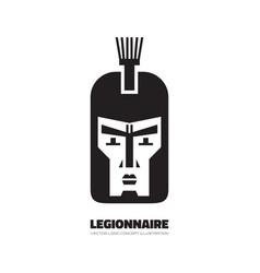 legionnaire - logo template concept vector image