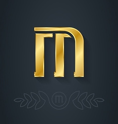 Letter M or number one Template for company logo vector
