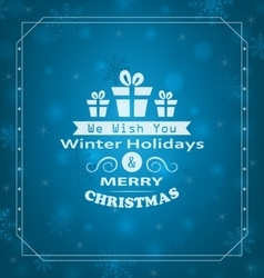 Merry Christmas Wishes vector image