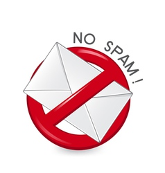 No Spam vector image