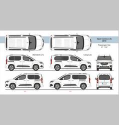 Opel combo life passenger van l1 l2 2018-present vector