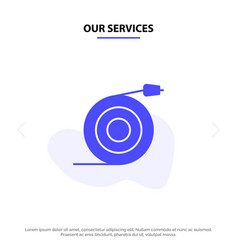 Our services curved flow pipe water solid glyph vector