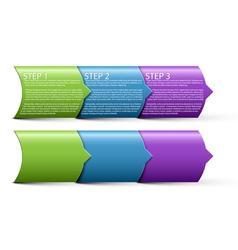 paper progress steps vector image